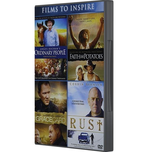 4 DVD BOX – Ordinary, Faith like Potatoes, Gracecard, Rust